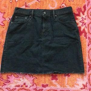 levis black denim skirt